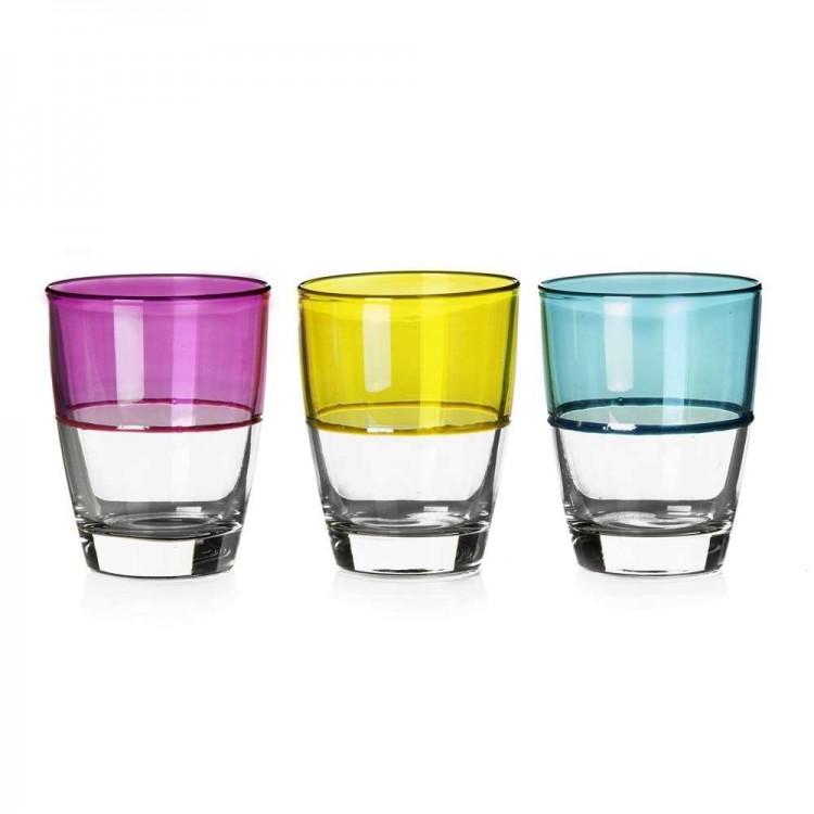 Vaso de cristal colorido Set de 3