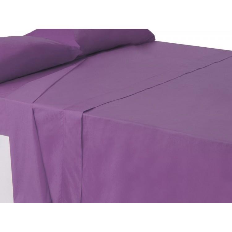 Sábana encimera lila cama 150 cm