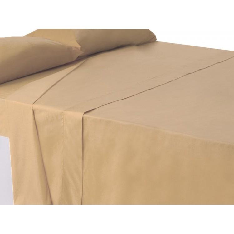 Sábana encimera beig cama 150 cm