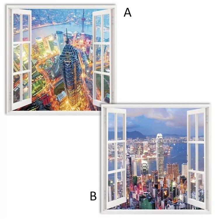 Cuadro fotoimpresión ventana abierta (60x60)