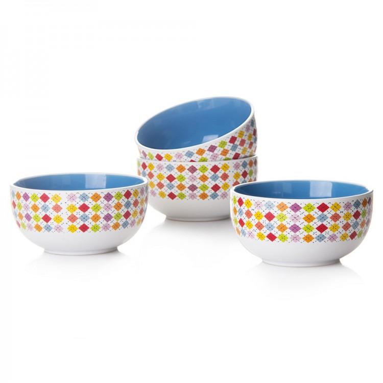 Bol azul de cerámica gres de alta calidad Set de 4