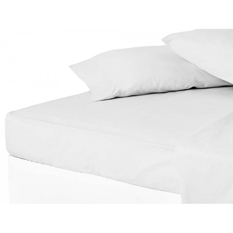 Sábana bajera blanco 150 cm