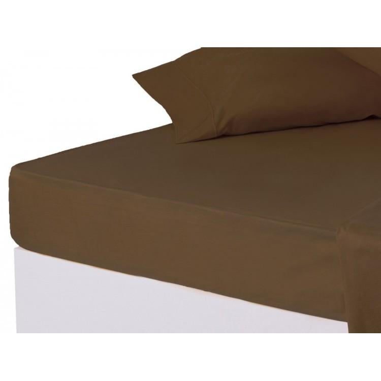 Sábana bajera chocolate cama 150 cm