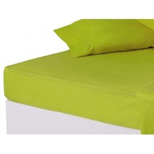 Sábana bajera verde cama 150 cm