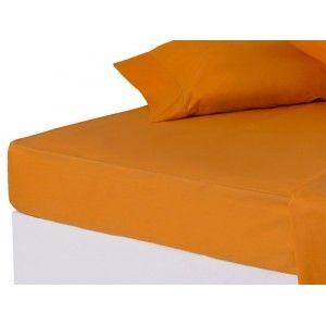 Sábana bajera Naranja cama 150 cm