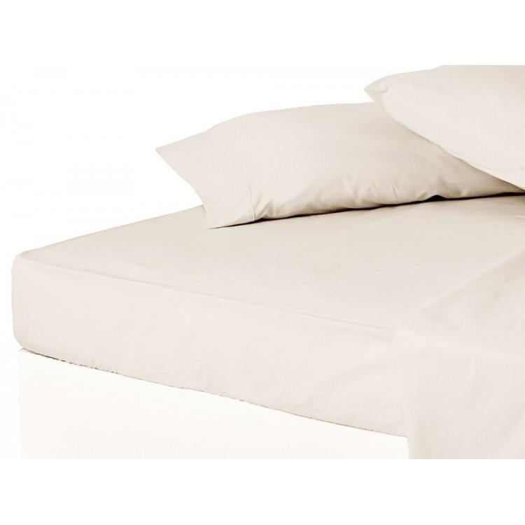Sábana bajera cama 150 cm  cruda