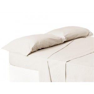 Funda de almohada cama 150 cm crudo
