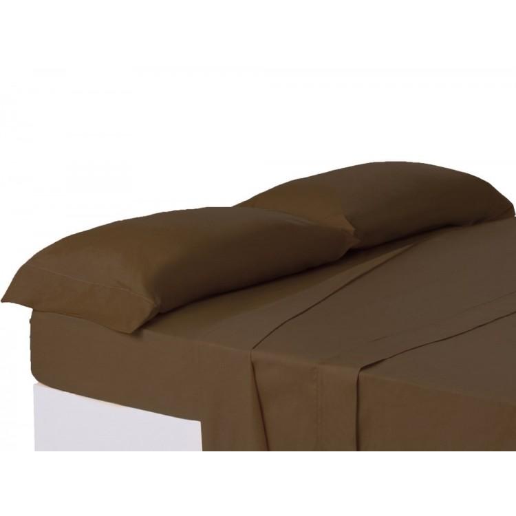 Funda de almohada chocolate cama 150 cm