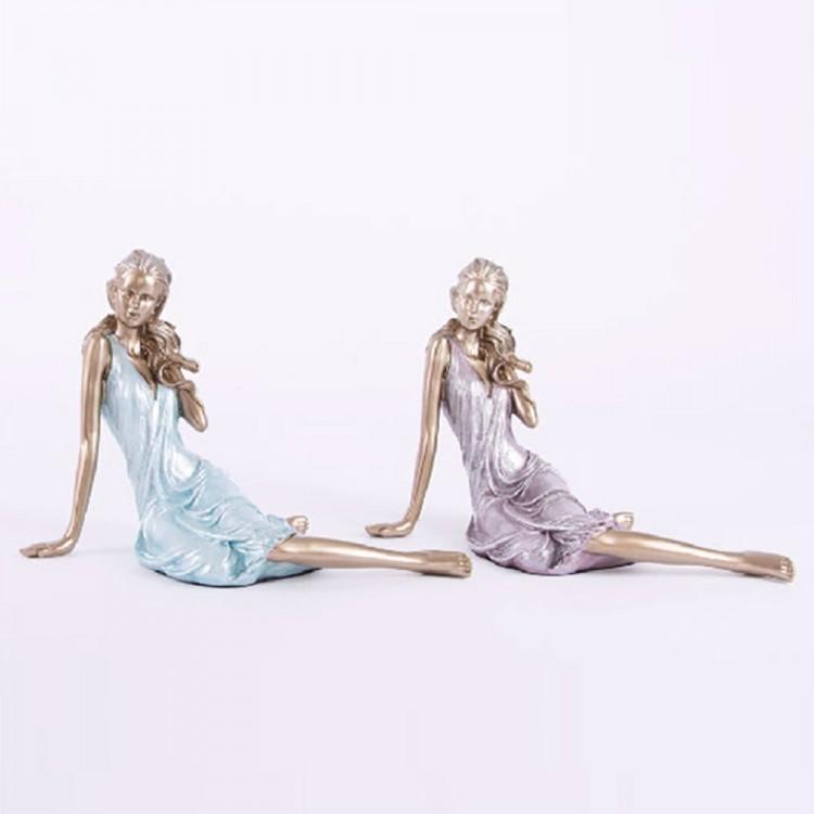Figura chica sentada resina (21x22x15) dos colores