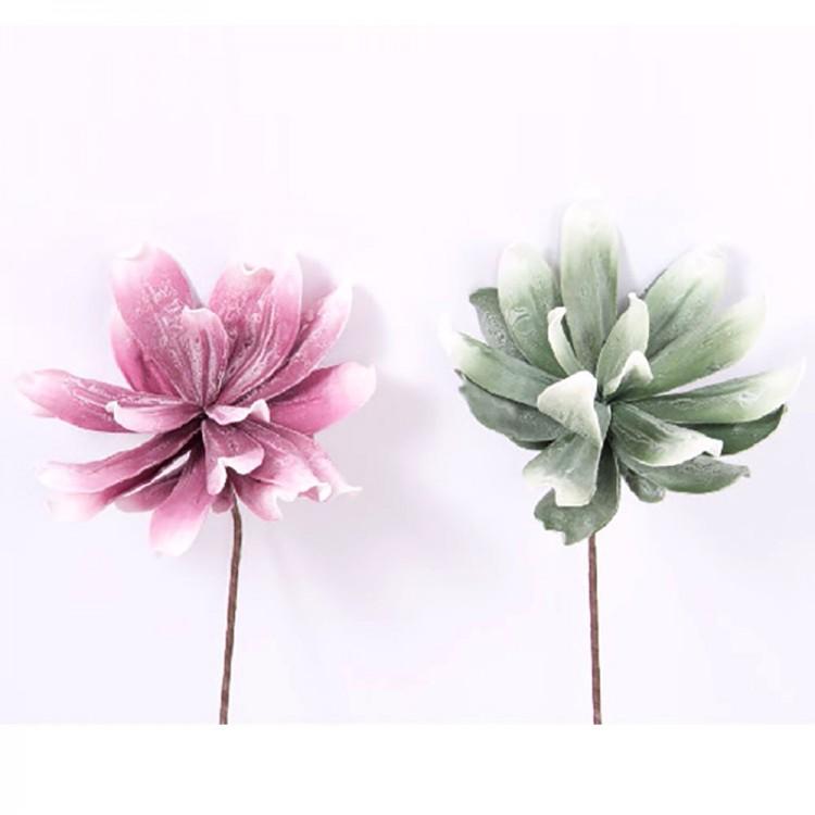 Flor artificial, eva acolchada (75 cm) dos colores