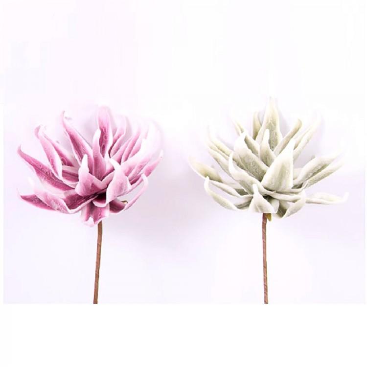 Flor artificial, eva acolchada (70 cm) dos colores