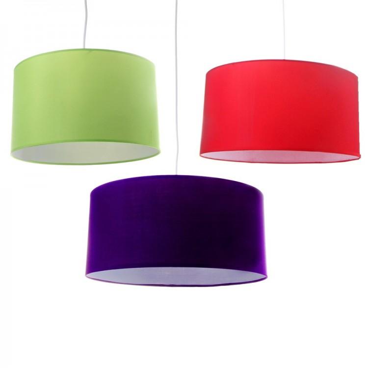 Lámpara de techo en algodón y pvc - pantalla en color