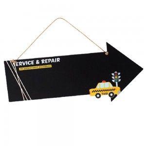 Pizarra infantil para  colgar (52x23 cm) modelo taxi
