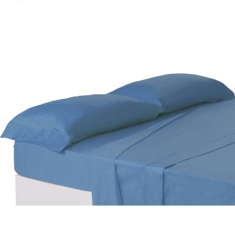 Funda de almohada azul cama de 150 cm