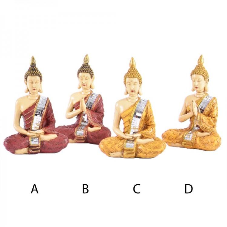 Figura Buda sentado (14x9,5x20,5 cm) resina