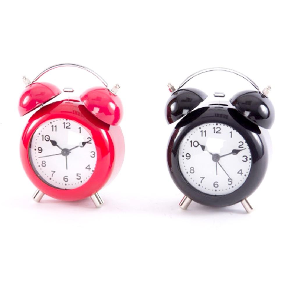 Reloj despertado de campana con luz (11x6x15 cm) metal y pvc