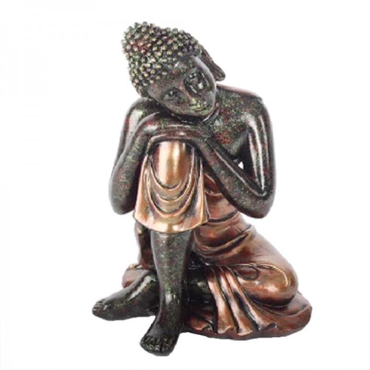 Figura Buda sentado (20x19x28 cm) resina