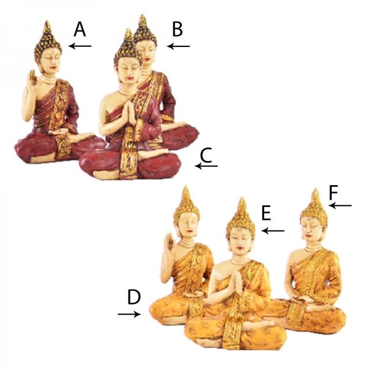 Figura Buda sentado (8,5x5x11,5 cm) resina