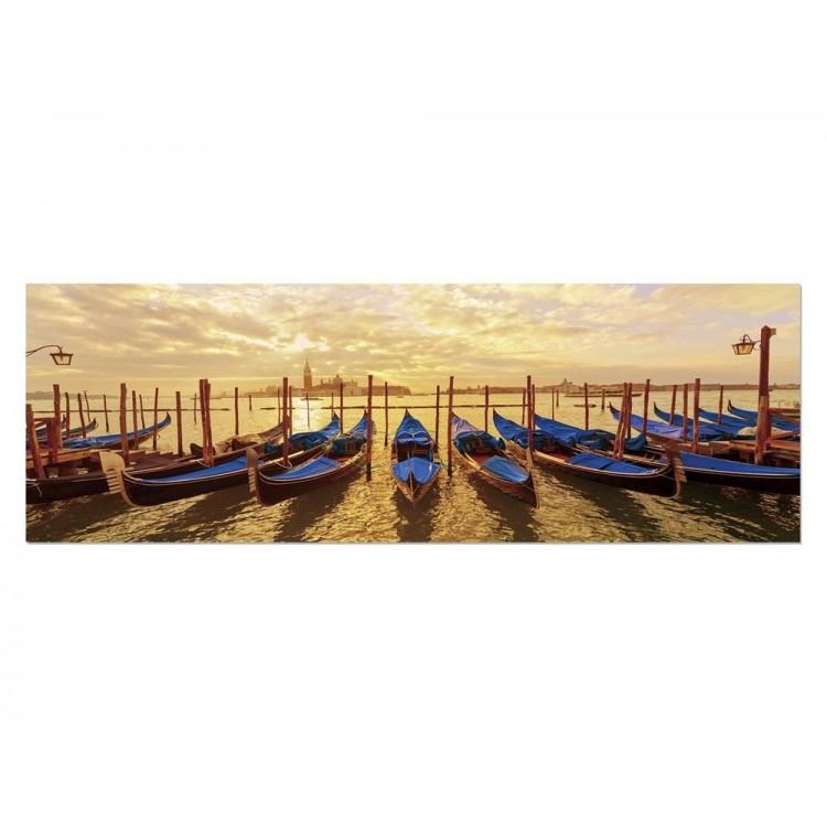 Cuadro góndolas de Venecia, impresión (180 x 60 )