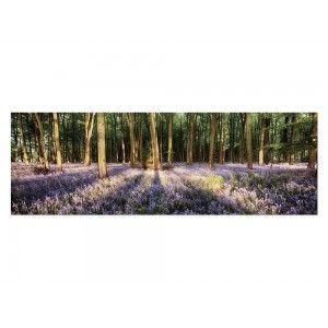 Cuadro fotoimpresion de bosque con flores 180 x 60 cm