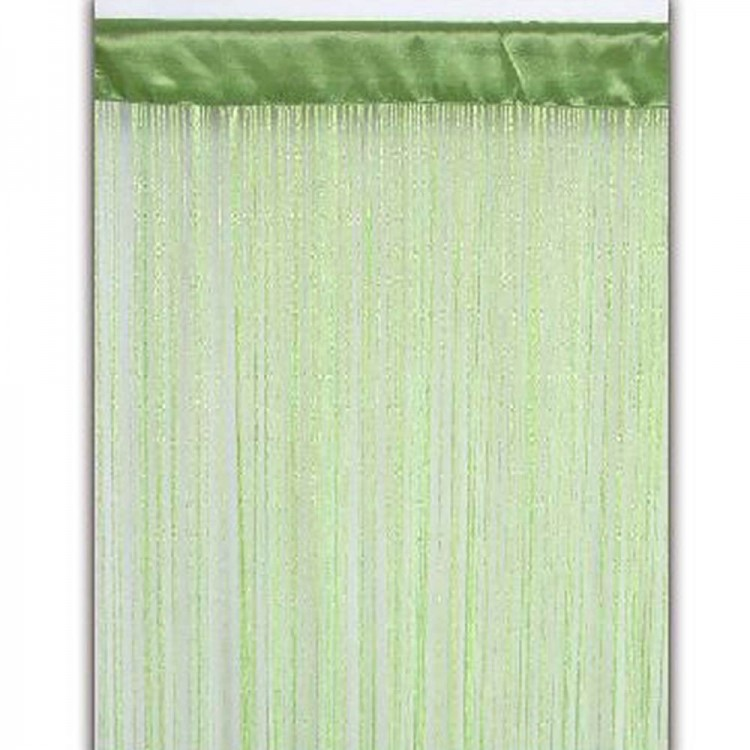 Cortina de hilos verde (90x200)