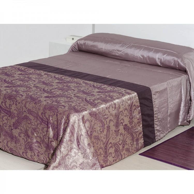 Colcha para cama malva de tafetán (240x260)