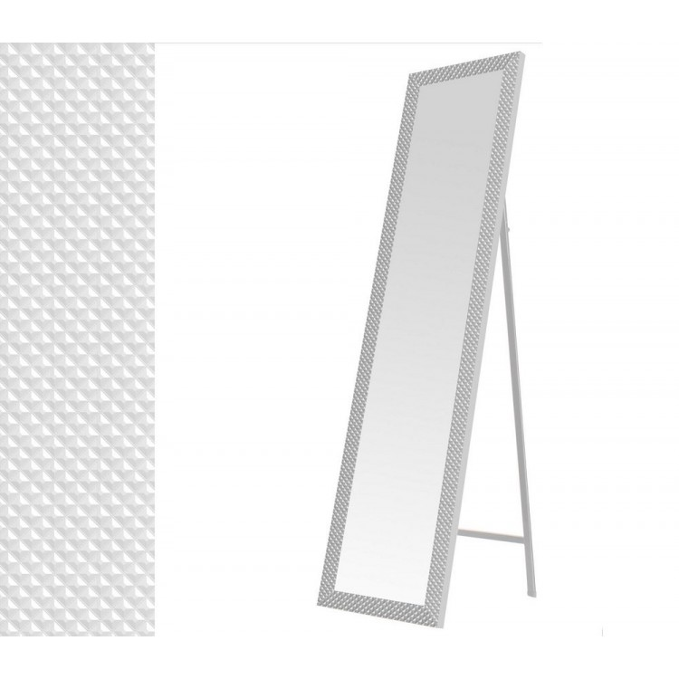 Hogar y Mas- Espejo de pie en color blanco.