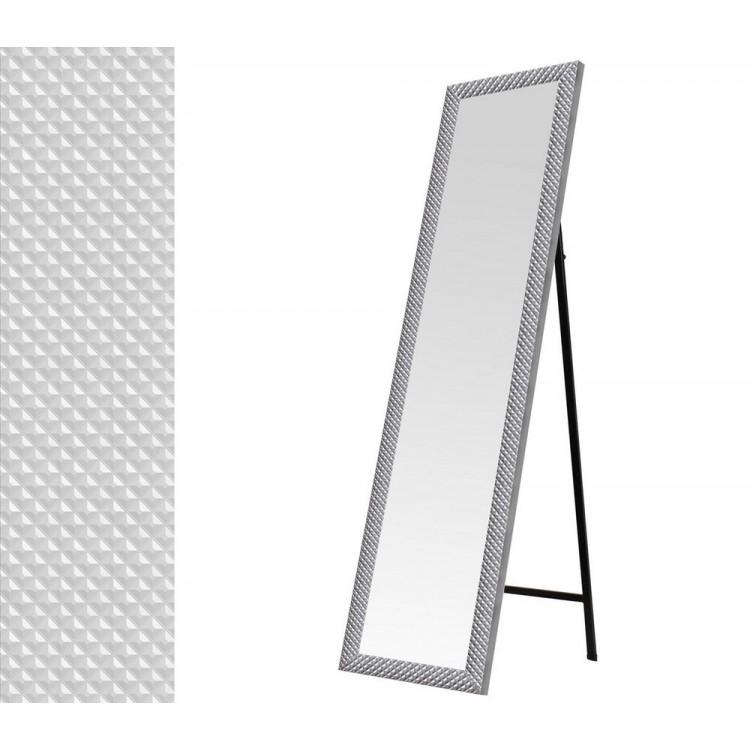 Espejo de pie en color plata