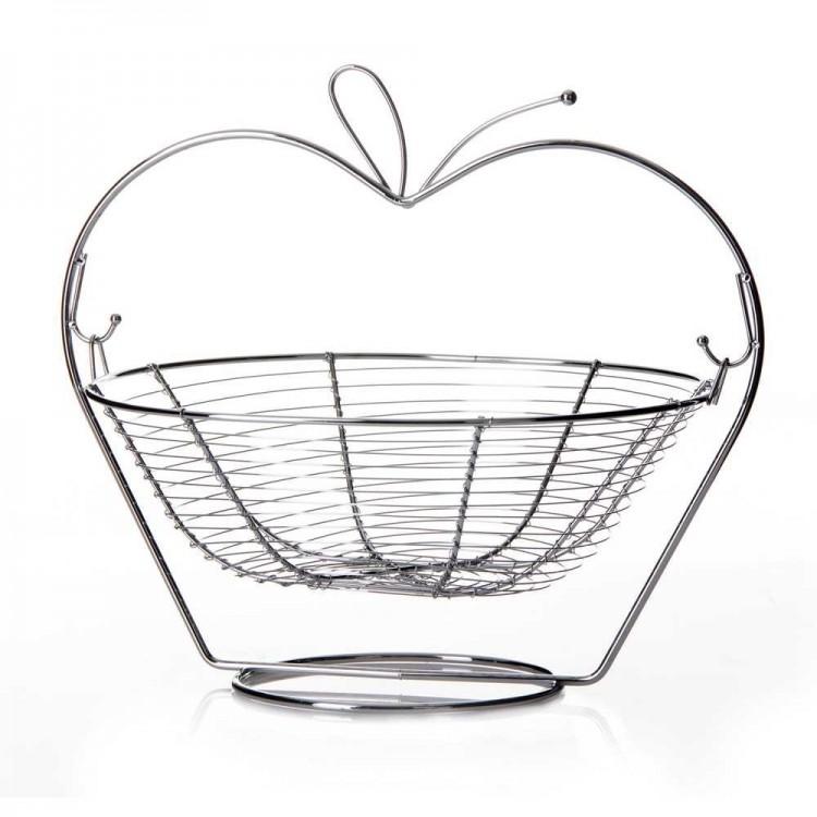 Hogar y Mas Frutero acero cromado Apple