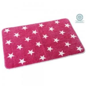 Alfombra de baño rosa con estrellas (45x70 cm)