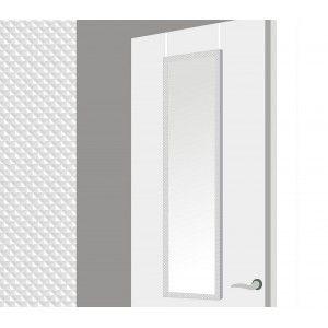 Espejo para puerta con formas geometricas en color blanco (37x2x128 cm)