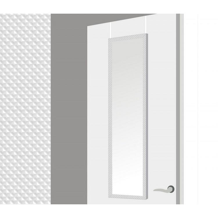 Espejo para puerta con formas geometricas en color blanco