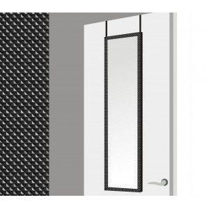 Espejo para puerta con formas geométricas en color negro (37x2x128 cm)
