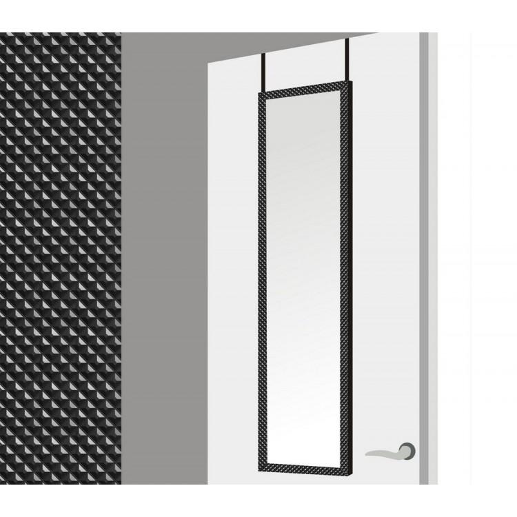 Espejo para puerta con formas geométricas en color negro