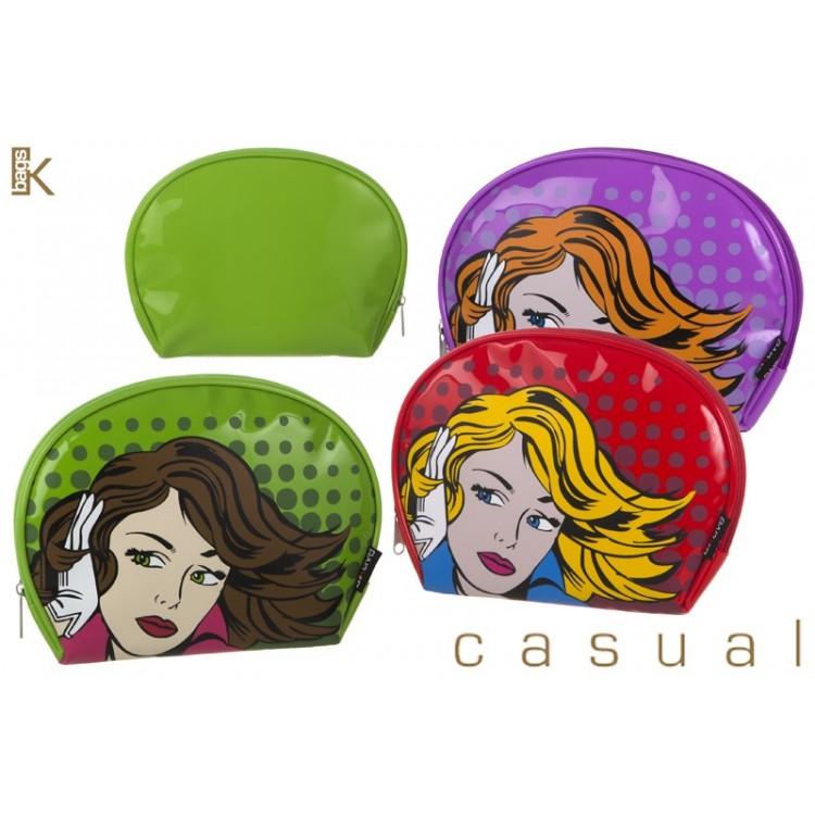 Neceser PVC modelo chica (25x19x3 cm). 3 colores