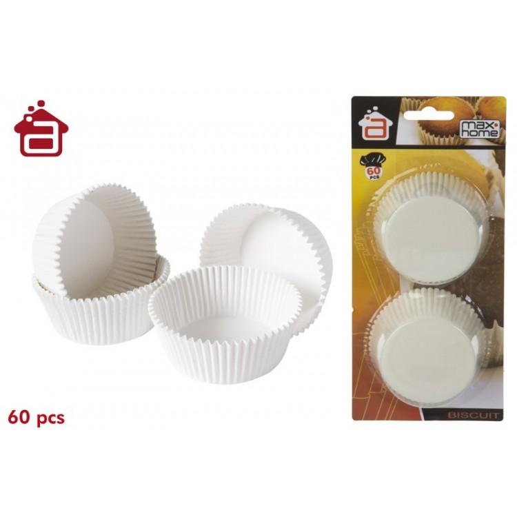 Molde de papel ondulado para magdalenas. Modelo S. (60 moldes)