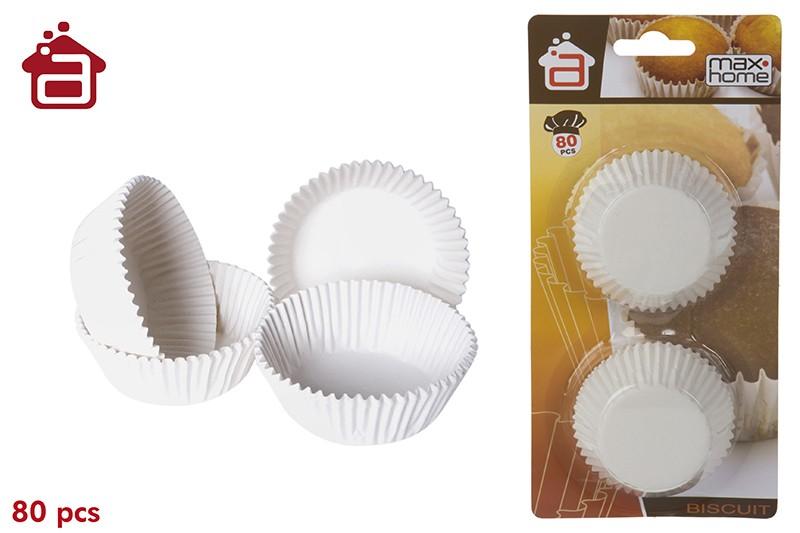 Molde de papel ondulado para magdalenas. Modelo M. (80 moldes)