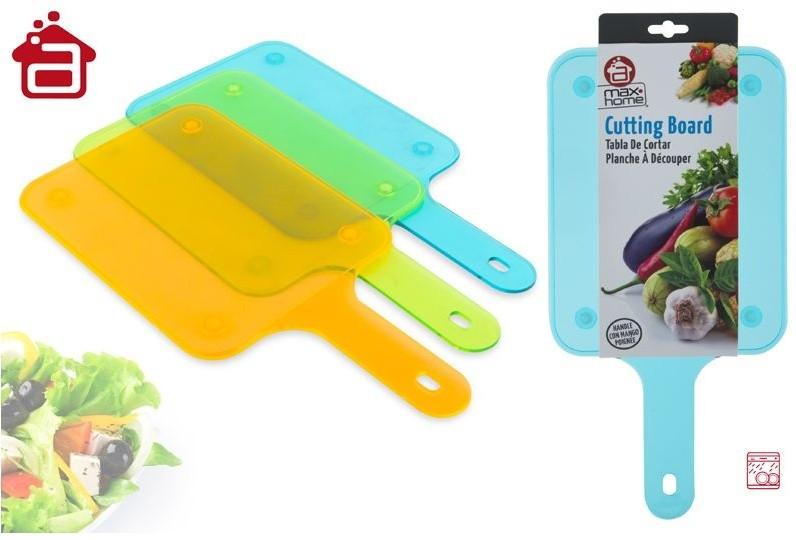 Tabla de corte en color transparente. 3 colores