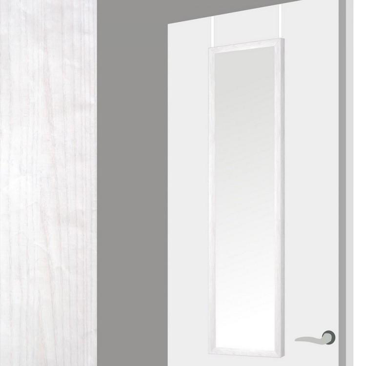 Hogar y Mas- Espejo para puerta en madera decape blanco .