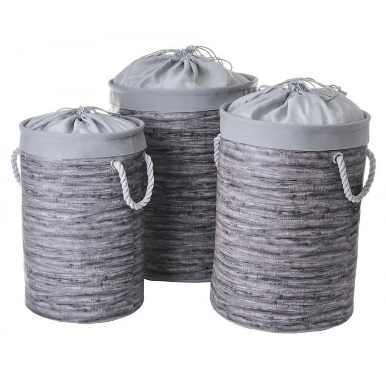 Cesto para ropa color gris. 3 modelos