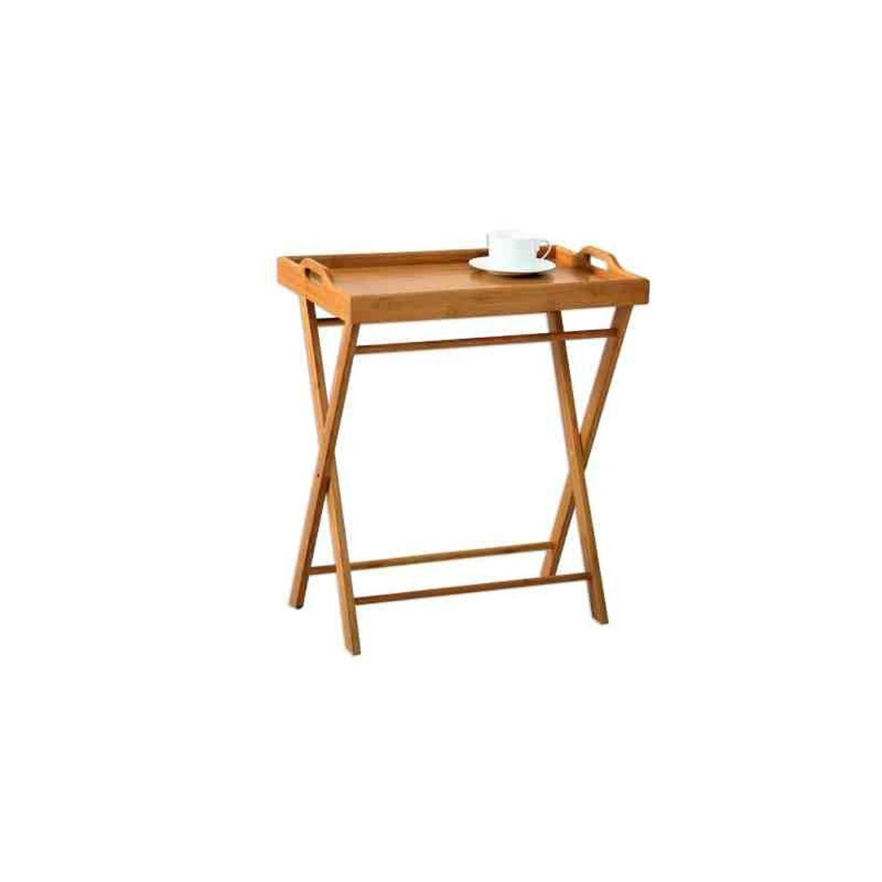 Bandeja cama de bamb con patas 35 x 55 x 61 50 cm hogar y m s - Bandeja con patas ...