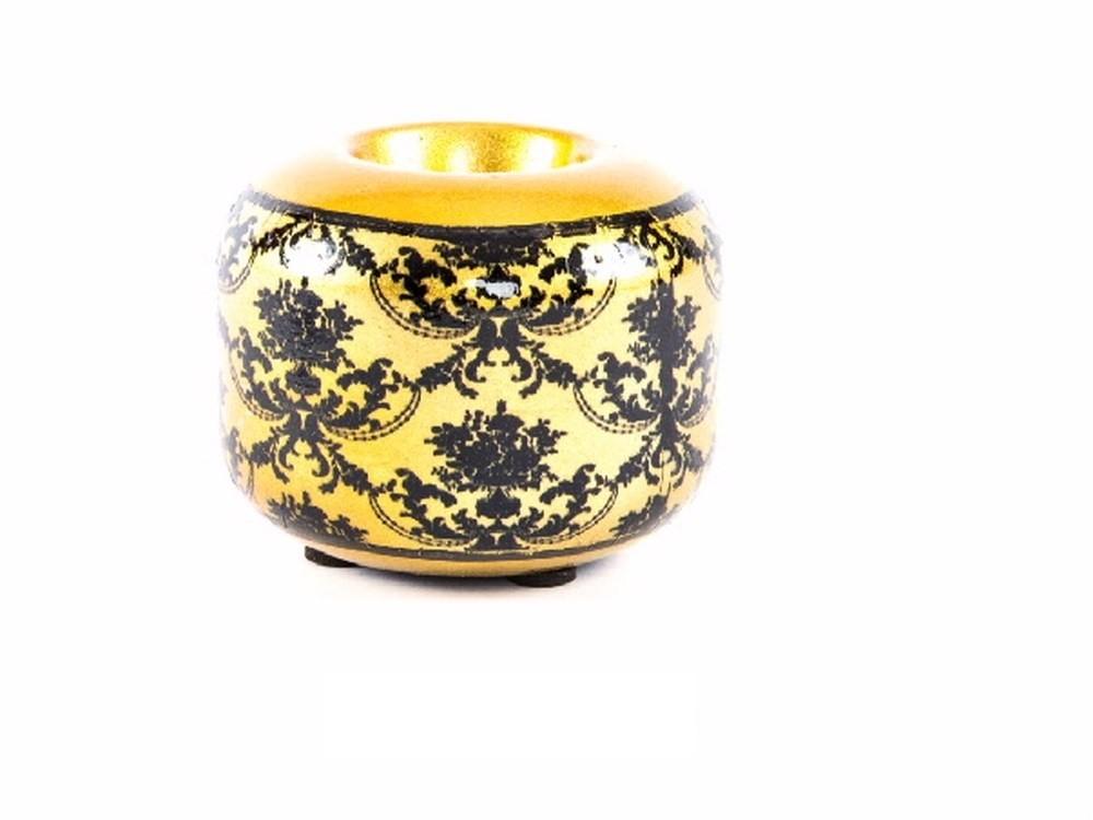 Portavela redonda cerámica - Modelo clásico (9x7 cm)