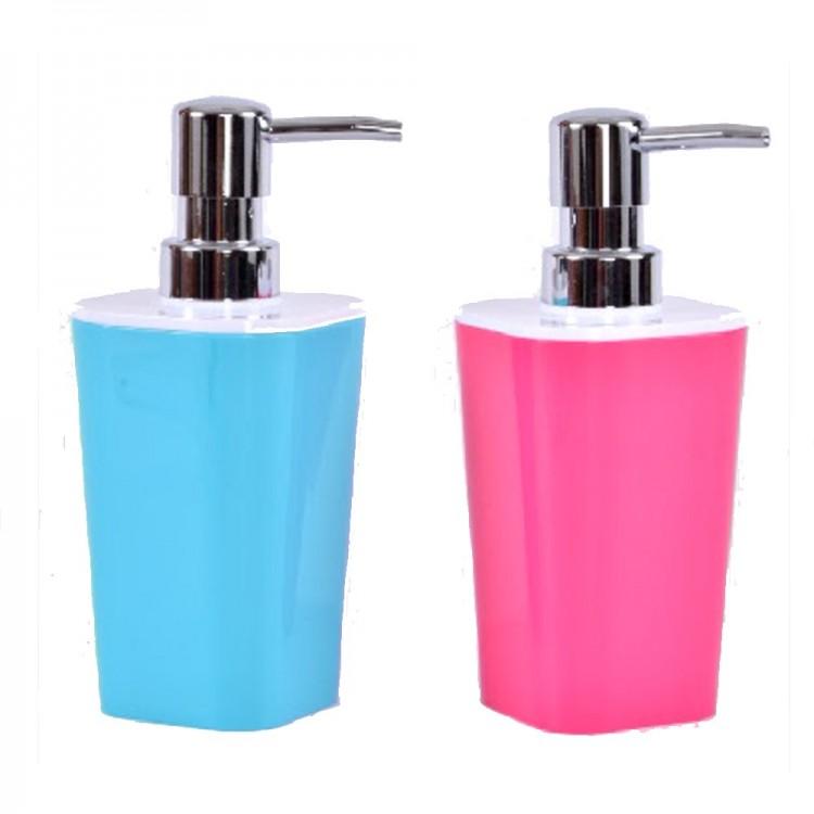 Dosificador de jabón acrílico. Dos colores. (7 x 17 x 7 cm)
