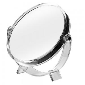Espejo de doble cara con pie transparente
