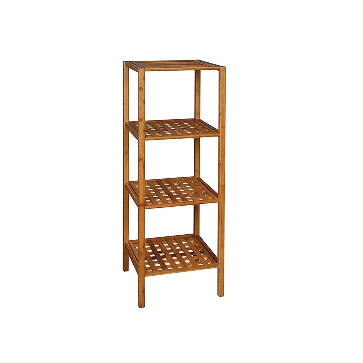 Estanter a de bamb 37 x 33 x 110cm hogar y m s for Estanterias de bambu para bano