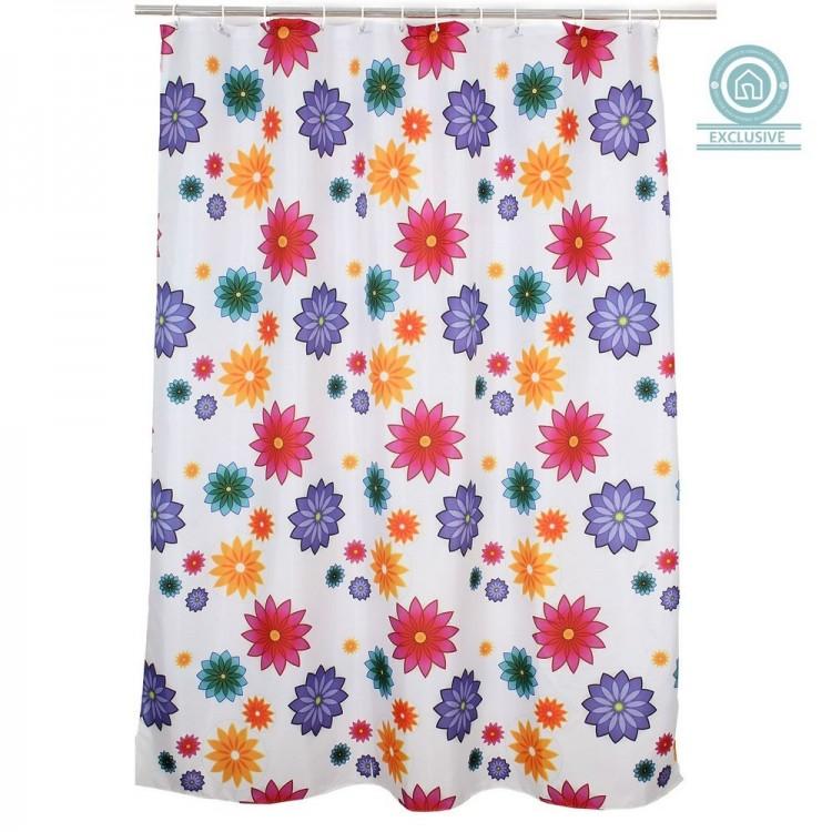 Cortina de baño de flores (180x200 cm)
