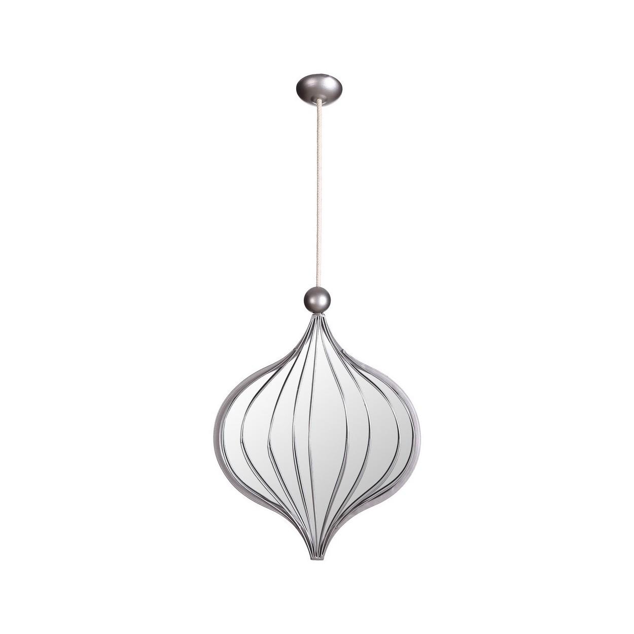 Espejo colgante de metal 31x5x70 cm color plata hogar - Espejos color plata ...