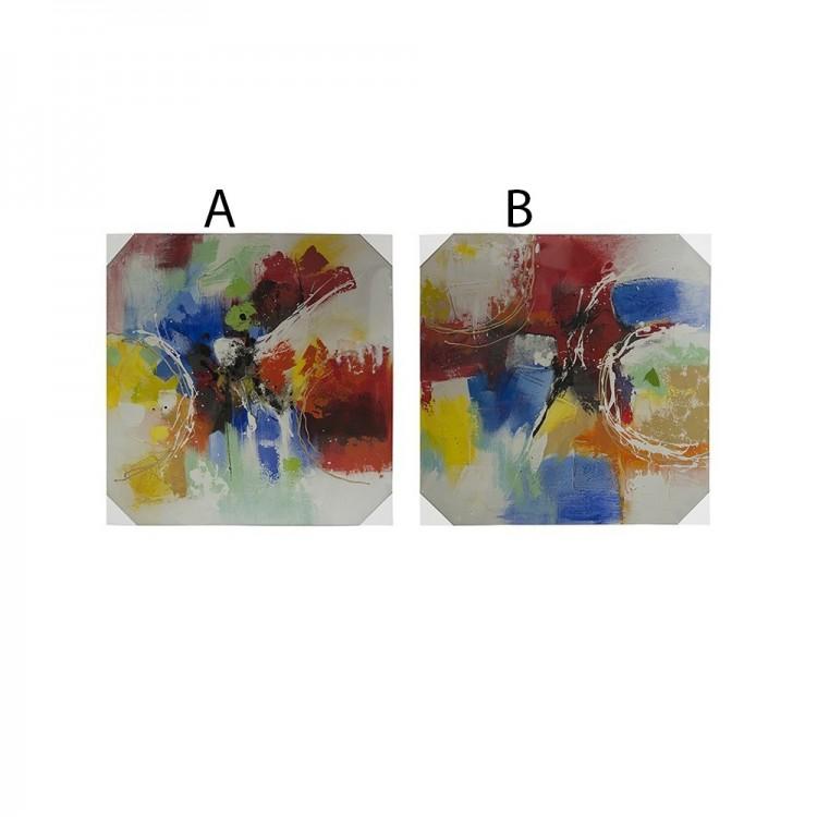 Cuadro Abstracto en lienzo (80x80x3 cm)