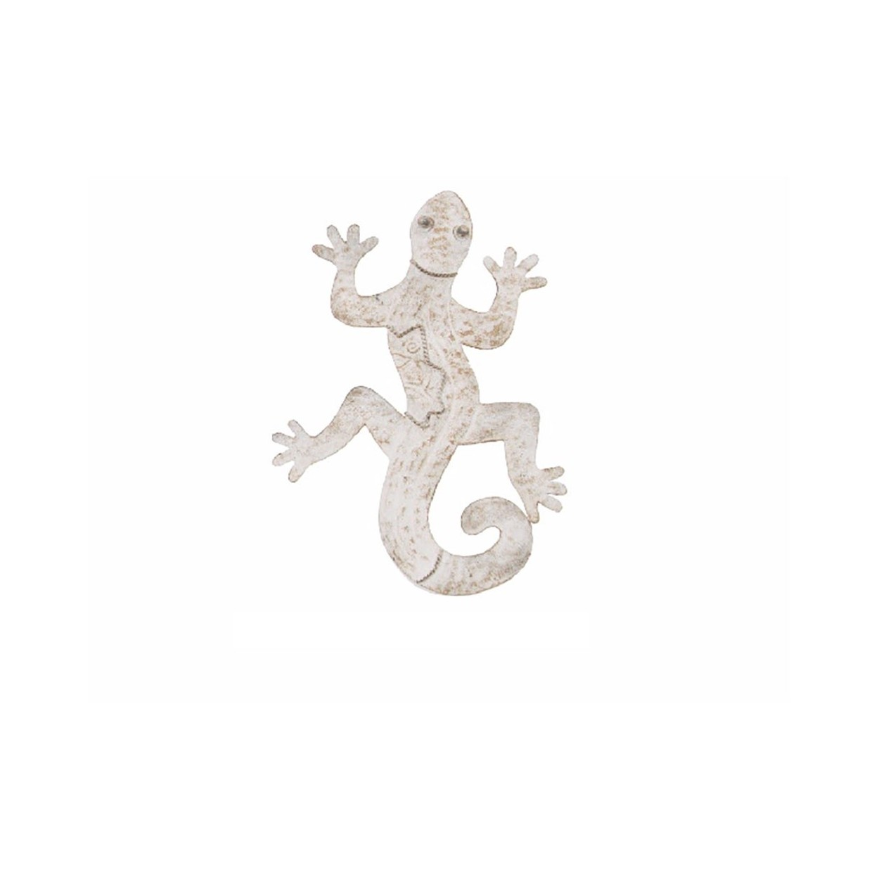 Figura lagarto de metal decoraci n de pared 37x29x3 cm for Figuras de metal para decorar paredes