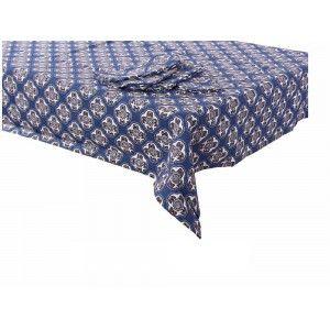 Mantel y set de cuatro servilletas - Modelo geométrico (150x150 cm)